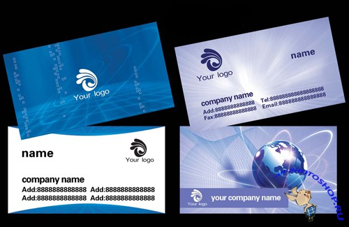 Two technology company business card template