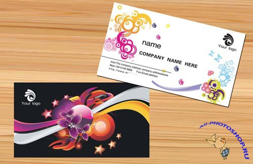 business card design template personal artistic pattern