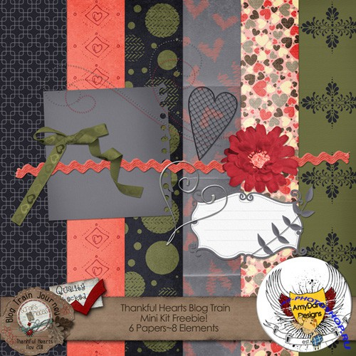 Scrap-set - Thankful Hearts #5