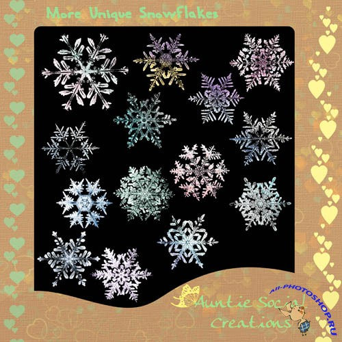 Scrap-kit - Auntie Social Creations More Unique Snowflakes