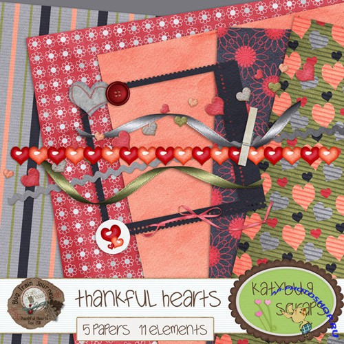 Scrap-set - Thankful Hearts #7