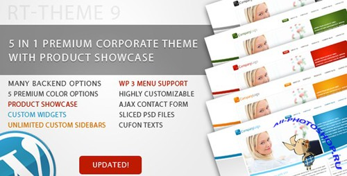 Themeforest - RT-Theme 9 v1.0.7 Business Theme 5 in 1 For Wordpress and HTML