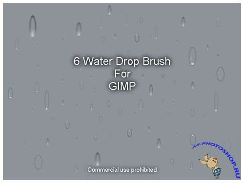 6 Water Drop Brushes for GIMP