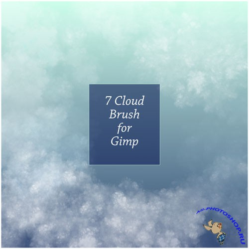 7 Cloud Brushes for GIMP