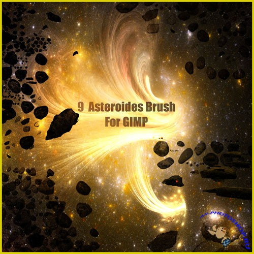 9 Asteroides Brushes for GIMP