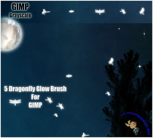 5 Dragonfly Glow Brushes for GIMP
