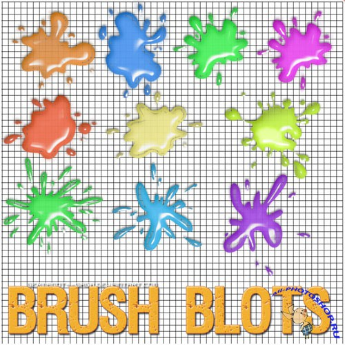 Blots Brushes for Photoshop