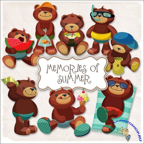 Scrap-kit - Bear - Memories Of Summer