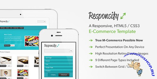 ThemeForest - Responsify - A Responsive E-Commerce Template - RiP
