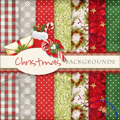 Textures - Christmas Backgrounds #14