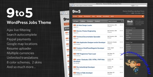 ThemeForest - Nine to Five - Premium WordPress Jobs Theme v1.6.5
