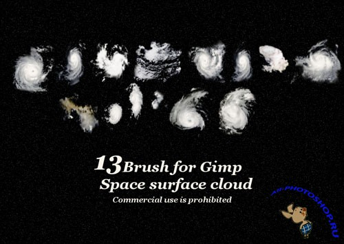 Space Planet Cloud Brushes for GIMP