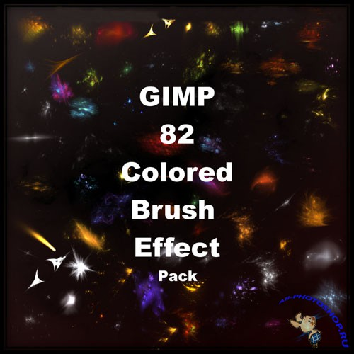 82 Colored Effect Brushes for GIMP