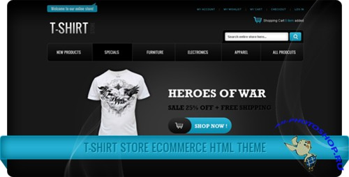 ThemeForest - T-Shirt Store eCommerce HTML Theme - Rip