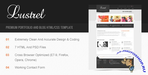 ThemeForest - Lustrel - Premium Portfolio And Blog HTML Template - Rip