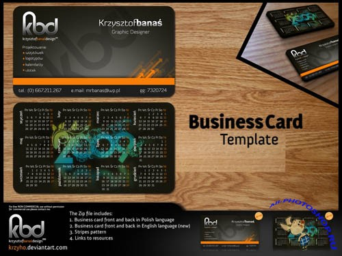 PSD Template - Business Card (Two Sides) Pack 1