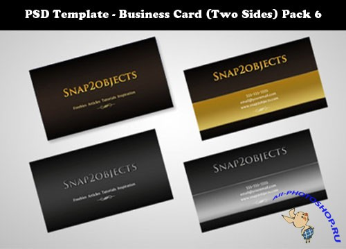 PSD Template - Business Card (Two Sides) Pack 6