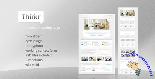 ThemeForest - Thinkr Landing Page - Rip