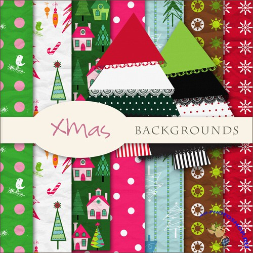 Textures - Christmas Backgrounds #21