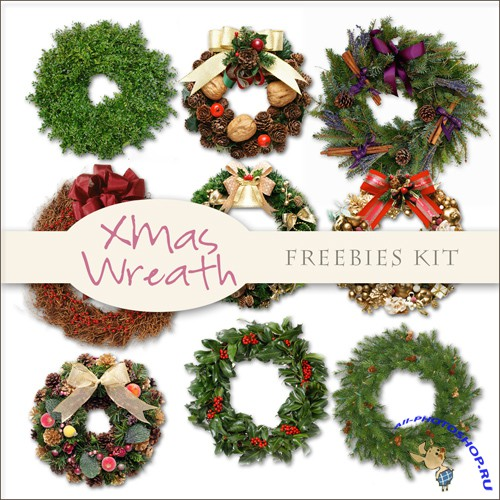 Scrap-kit - Christmas Wreaths #2