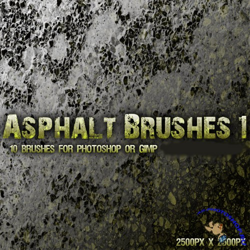 Asphalt Brushes set