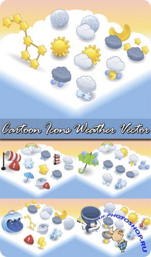 Cartoon Icons Weather Vector