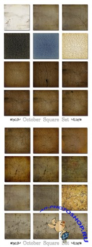 October Square Set