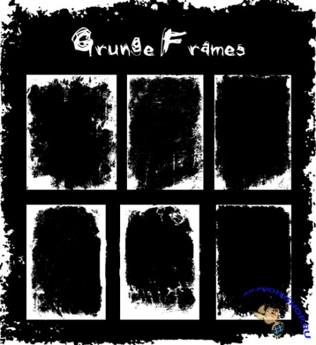 Grunge frames brushes
