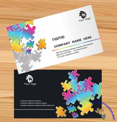 Excellent Black & White Business Card Template