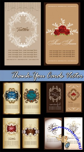 Thank-You Cards Vector