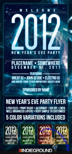 GraphicRiver New Year 2012 Flyer/ Poster Template