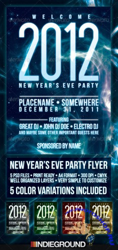 GraphicRiver - New Year 2012 Flyer/Poster Template