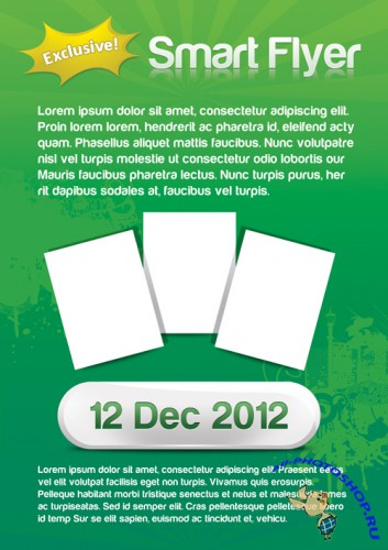 2012 New Year English-style posters PSD template