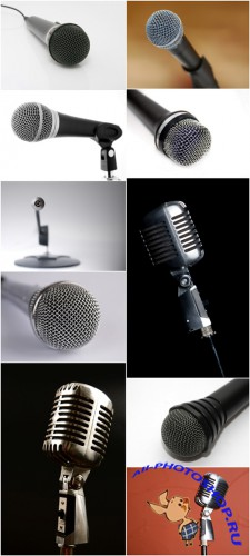 Photo Cliparts - Microphone