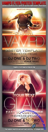 GraphicRiver - Vampd Poster/Flyer Template