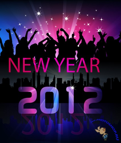 New Year Vector Poster 2012