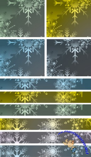 Christmas Vector Baners Backgrounds - 1