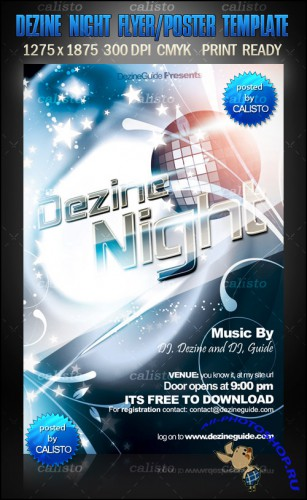 Dezine Night Flyer/Poster Template