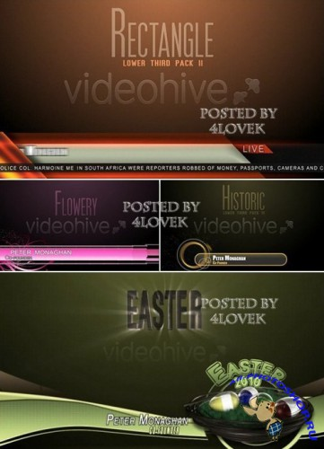 Bundle Lower Third Pack After Effect Project