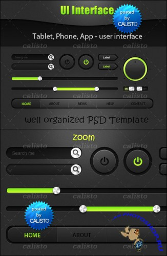 Tablet, Phone, App – User Interface PSD Template