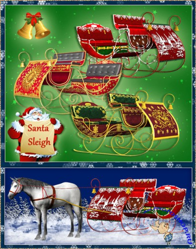Scrap-kit - Santa Sleigh