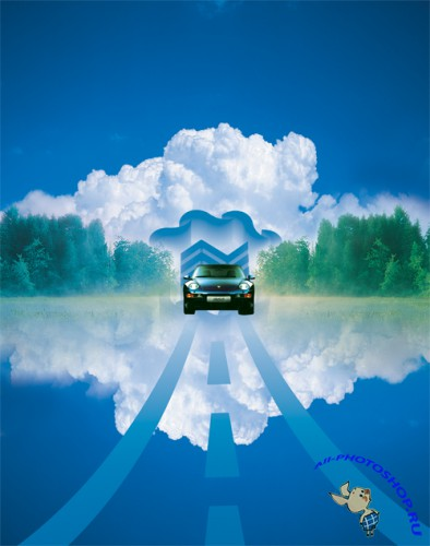 Creative real estate blue sky posters PSD layered material