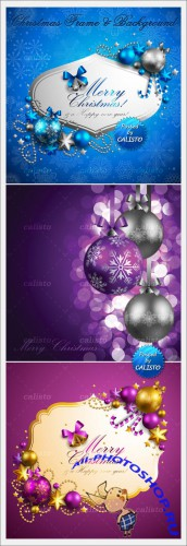 Vector Christmas Frames & Backgrounds 2