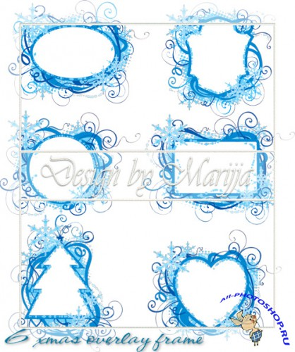 Scrap-kit - 6 Christmas Overlay Frames