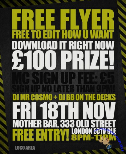 Free Event Flyer PSD Template