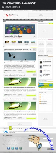 Free WordPress Blog Design PSD Template
