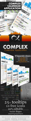 GraphicRiver - Complex Calendar Application