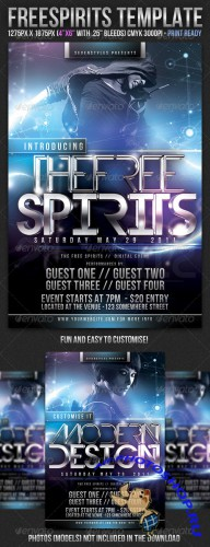 GraphicRiver - FreeSpirits Flyer Template