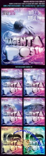 GraphicRiver - Magenta Poster/Flyer Template