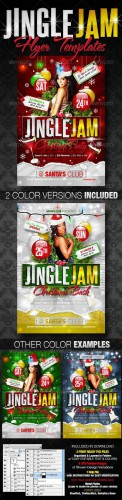 GraphicRiver - Jingle Jam Christmas Party Flyer Templates